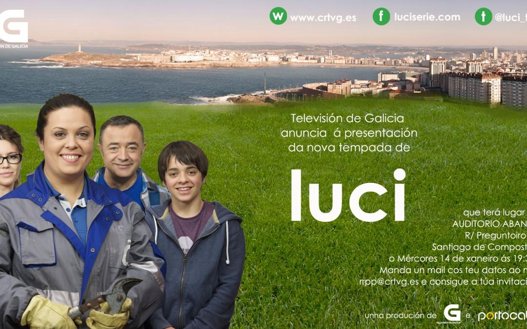 Texto TVG anuncia a estrea da nova temporada de luci